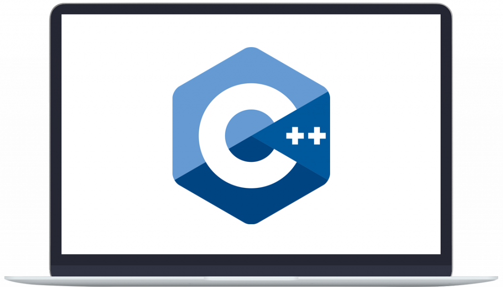 c++ icon on laptop